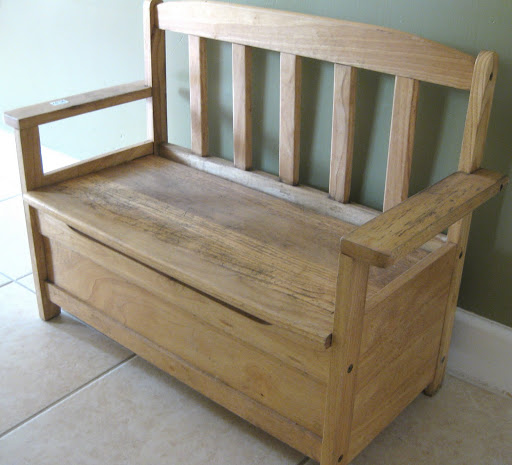 And hereu0027s what it looks like nowu2026 & Toy Storage Bench Re-Do - Aimee Weaver Designs LLC