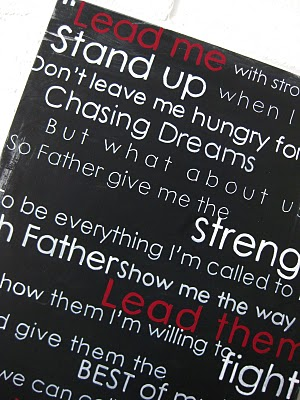 Song Lyric Canvas - Aimee Weaver Designs, LLC
