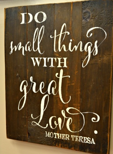 sign do small things2