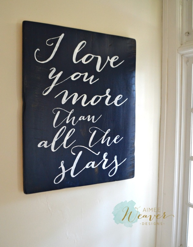 sign I love you more than all the stars