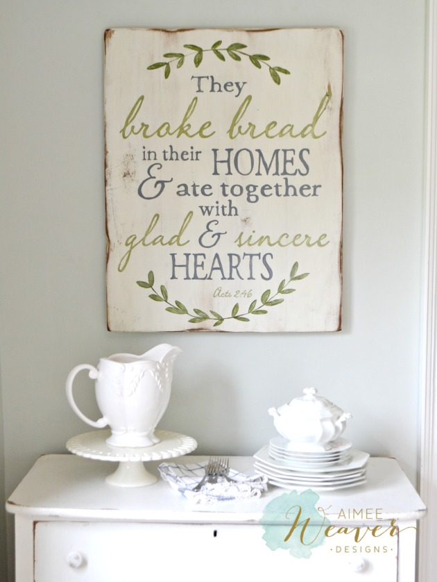 sign They broke bread sign by Aimee Weaver Designs 2