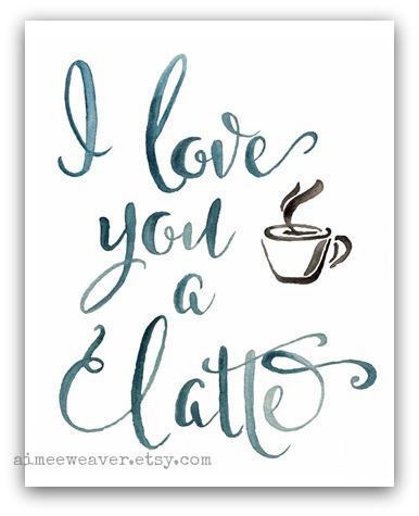 I love you a latte