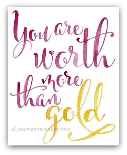 You are worth FINAL