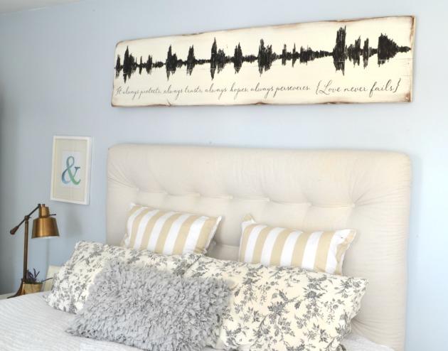 wood soundwave art