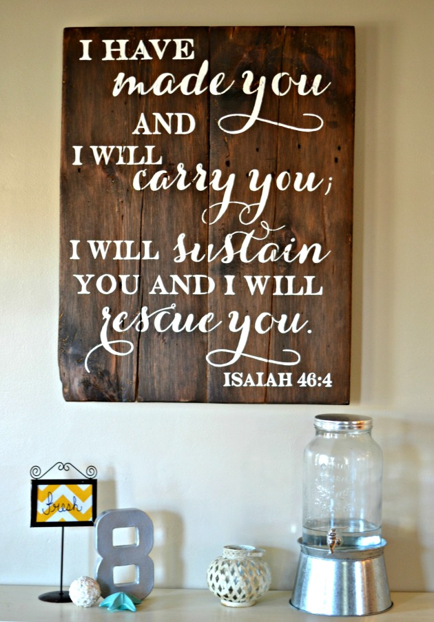 I have made you    wood sign by Aimee Weaver Designs