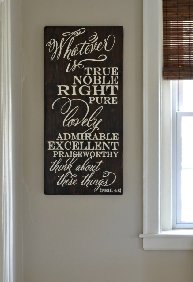 Whatever is || wood sign by Aimee Weaver Designs