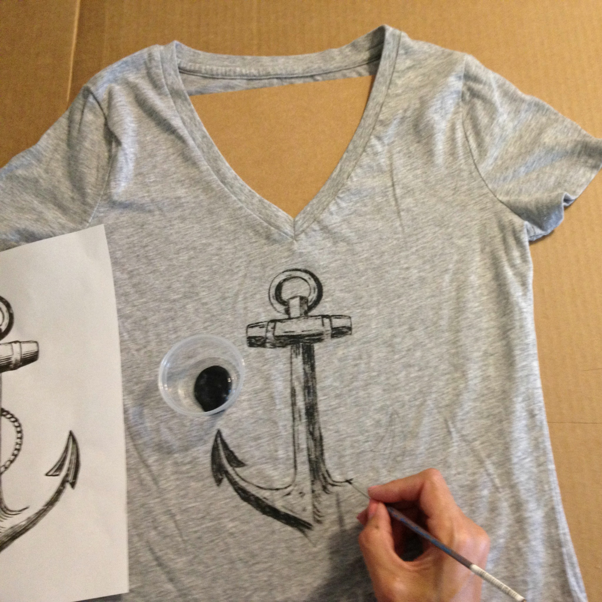 Painted tee shirt tutorial aimee weaver designs llc for How to paint on t shirt