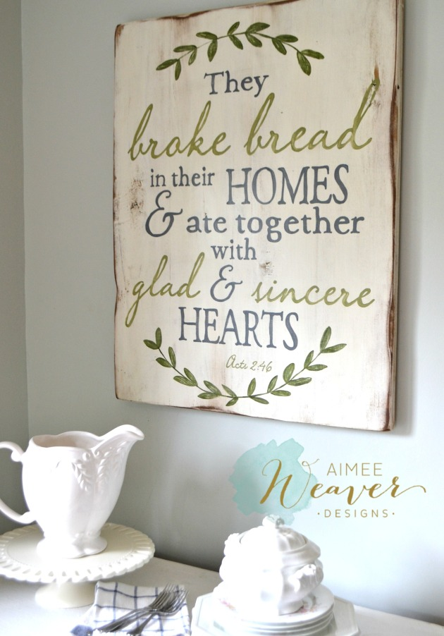 They broke bread sign by Aimee Weaver Designs