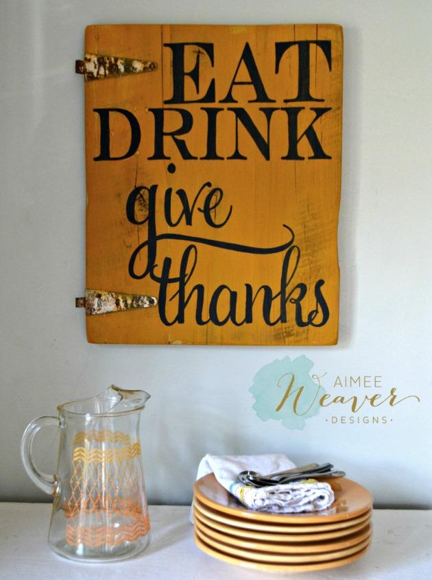 Eat Drink sign by Aimee Weaver Designs