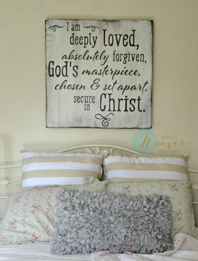 I am deeply loved sign by Aimee Weaver designs