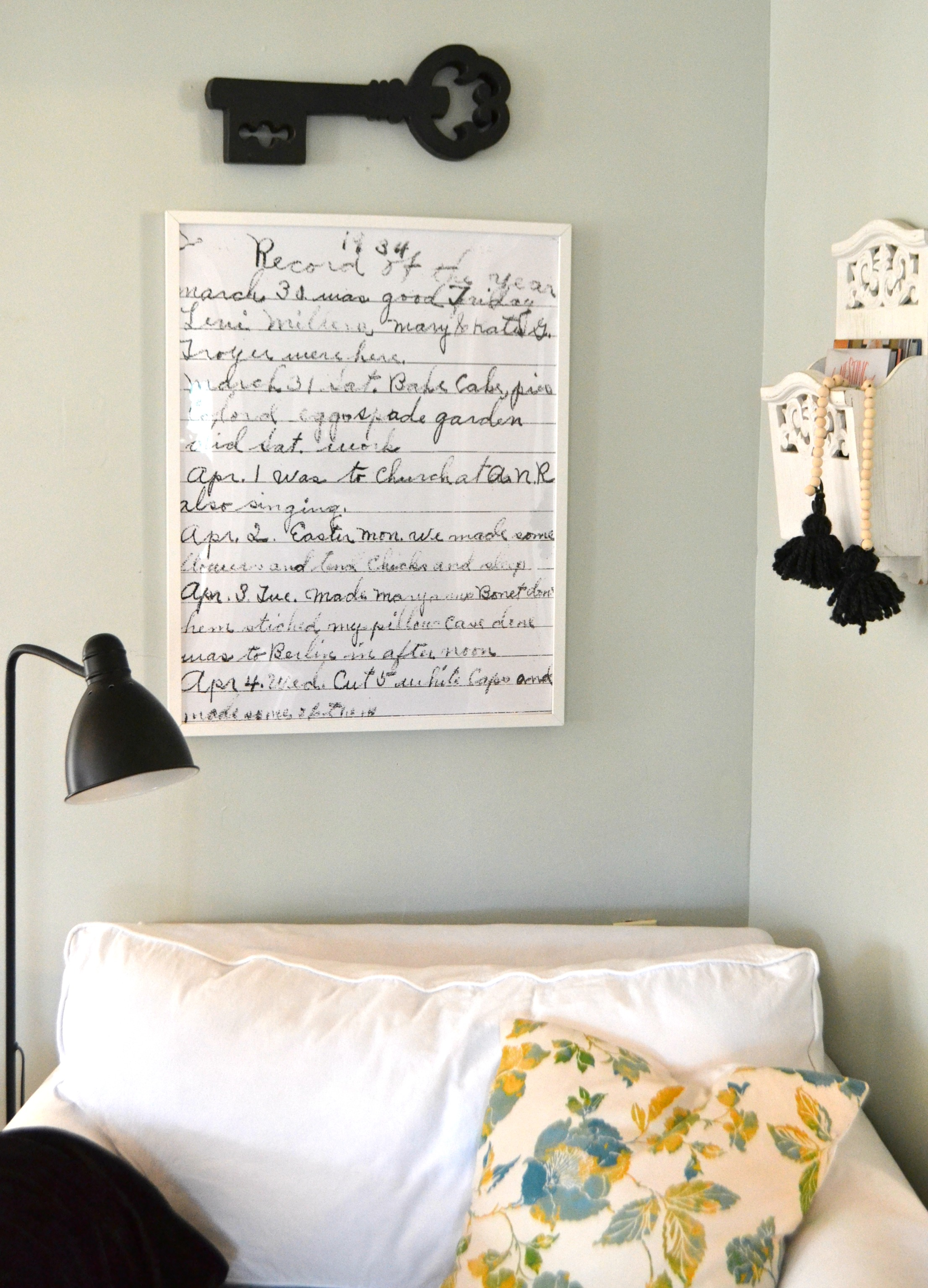 Oversized framed diary page aimee weaver designs llc for Aimee weaver blogspot