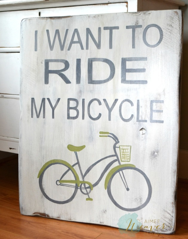 sign I want to ride