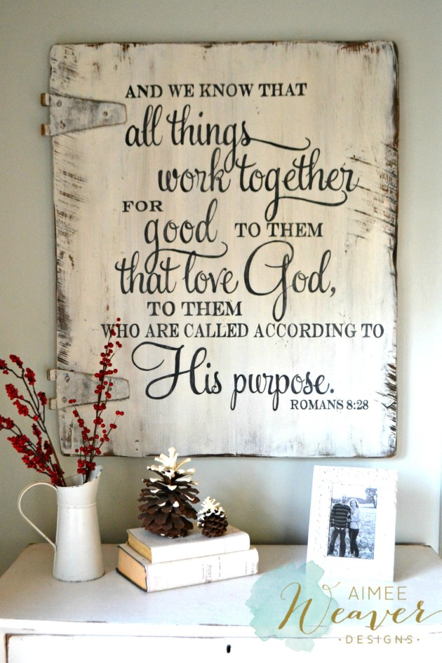 All things work together...wood sign by Aimee Weaver Designs