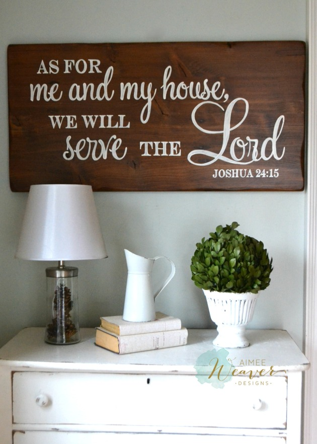 As for me and my house...wood sign by Aimee Weaver Designs