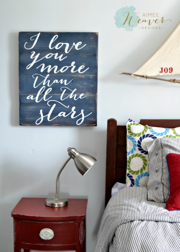 I love you more than all the stars...wood sign by Aimee Weaver Designs