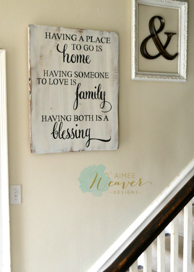 Having a place to go is home - wood sign by Aimee Weaver Designs