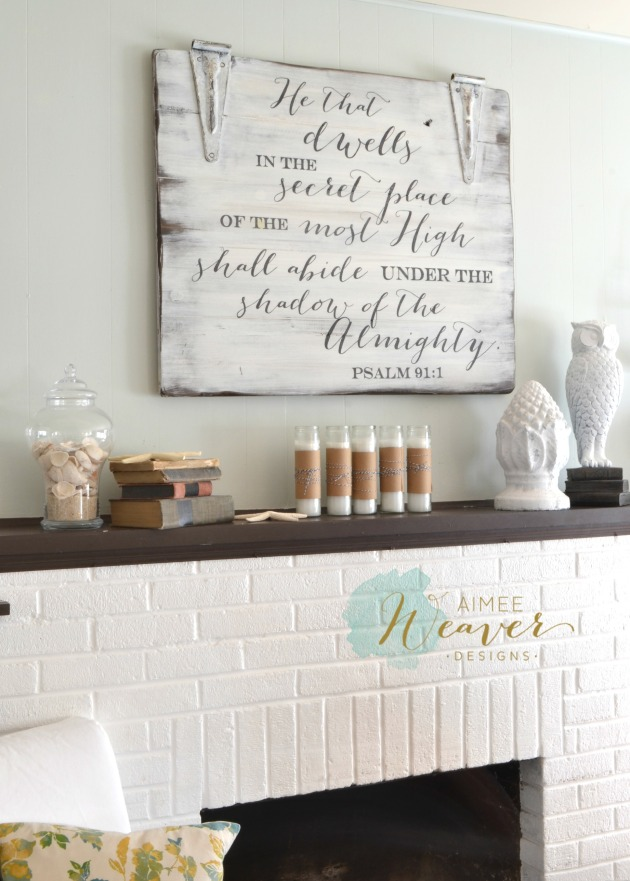 He that dwells in the secret place sign by Aimee Weaver Designs
