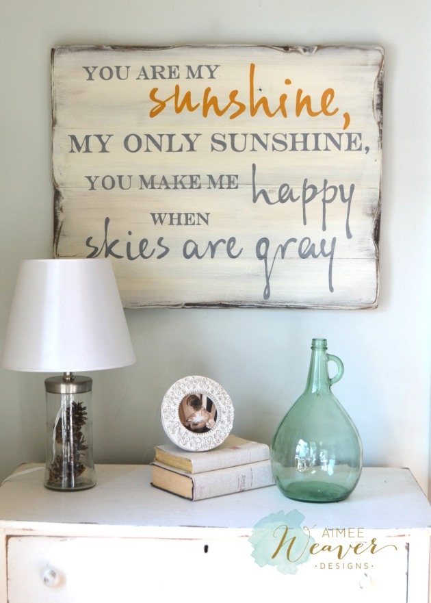 You are my sunshine wood sign by Aimee Weaver Designs