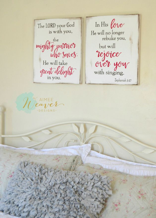 The Lord your God is with you canvas set by Aimee Weaver Designs