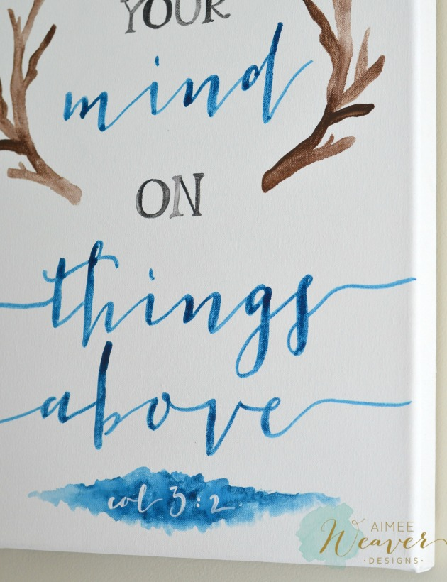 Set your mind on things above artwork by Aimee Weaver Designs