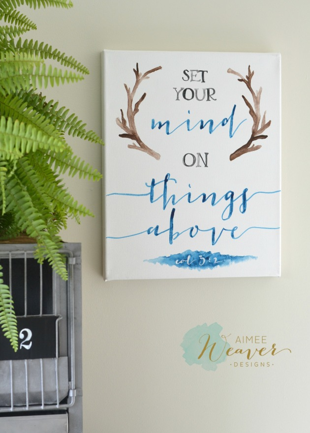 Set your mind on things above canvas by Aimee Weaver Designs