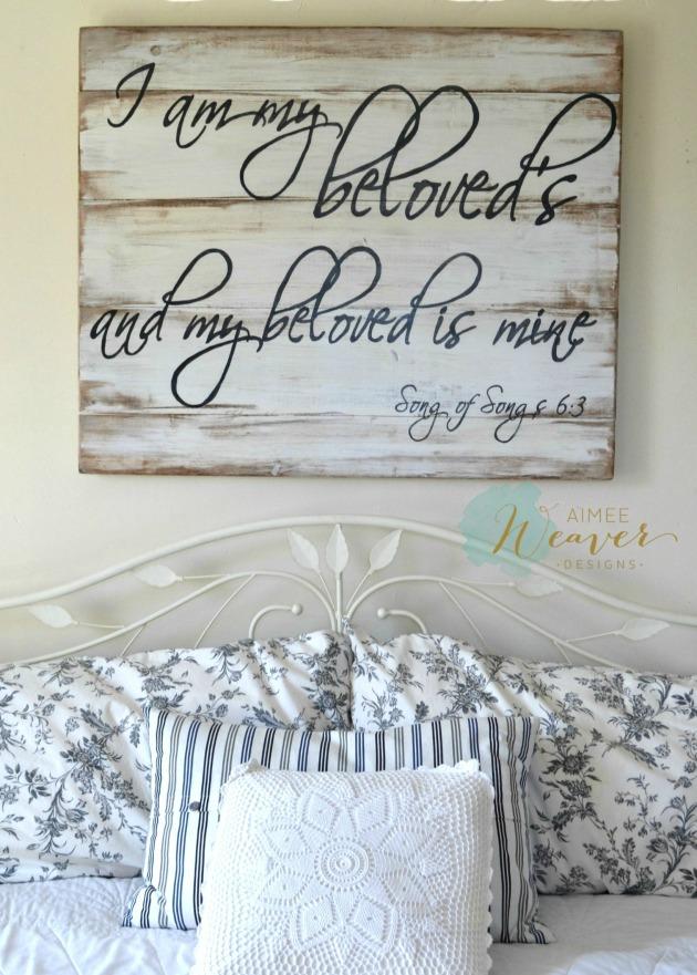 Beloved wood sign by Aimee Weaver Designs