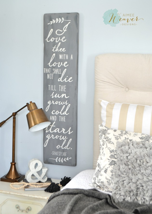 I love thee...wood sign by Aimee Weaver Designs