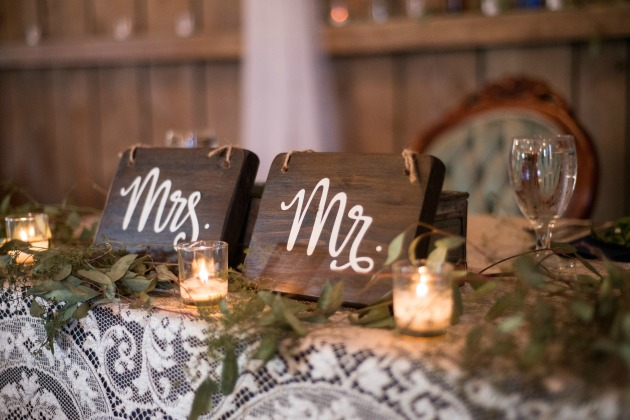 Mr and Mrs wood wedding sign 2