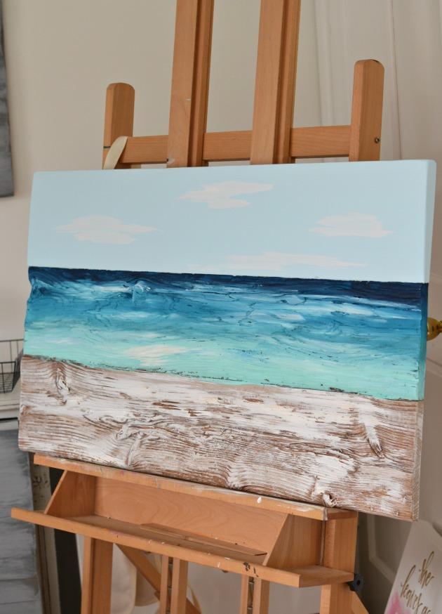 ocean wood painting