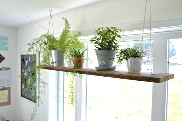 How to create a hanging shelf