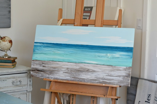 Ocean painting by Aimee Weaver Designs